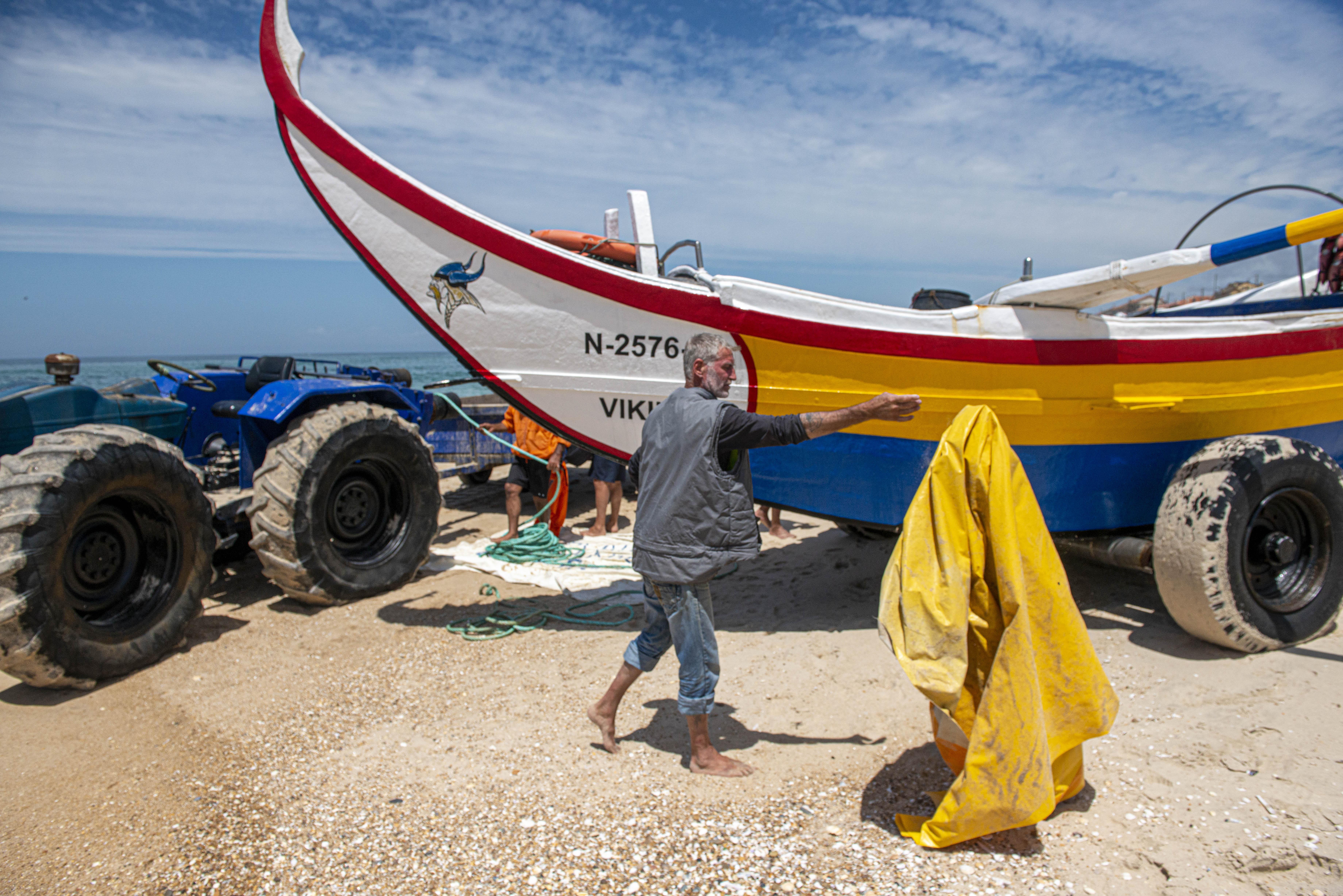 Arte xávega na Praia da Vieira