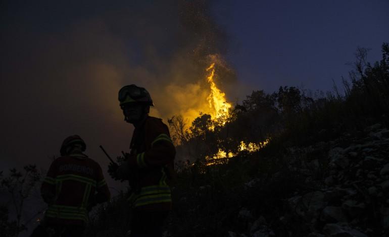 sete-meios-aereos-e-156-homens-combatem-incendio-em-pombal
